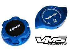 VMS RACING BLUE ENGINE OIL CAP + RADIATOR CAP COVER FOR 13-16 SCION FRS BK