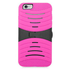 Rugged Shockproof Hybrid Rubber Protective Defender Hard Stand Case Cover