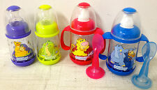 New Nuby Infant Feeders for cereal and food 4 baby bottles total with spoons