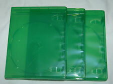 (3) THREE XBox One Translucent GREEN Replacement Empty Game Cases NEW!
