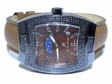 Mens Iceman Cheap Stainless Steel Swiss Movt 2.50ct Black Diamond Watch