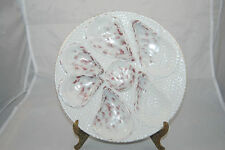 "Antique 1800's napkin design 10"" dia. Oyster Plate - No damage"