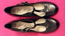 New Marks And Spencer M&S T-bar Mary Jane Size 4 Shoes Black Double Strap