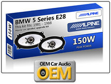 BMW 5 SERIES E28 pacco scaffale ALTOPARLANTI ALPINE Auto Altoparlante KIT 150W MAX POWER 4x6