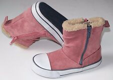 Clarks Kyla Star girls pink suede cute boots size UK 8.5/26.5 F