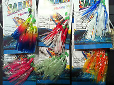 15x Squid Sabiki Rigs 5 Hooks Fishing Baits Lures Rigs Catcher Saltwater Beach