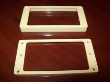 NEW - Humbucking Non-Slanted Pickup Rings, Flat Bottom, CREAM