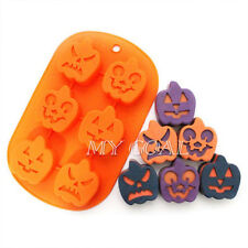 Silicone Holloween Pumpkin Ghost Cake Soap Mold Chocolate Mould Sugarcraft DIY