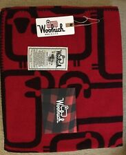New! $189 Woolrich Flock Of Sheep Red Wool Throw Blanket. Made In USA.