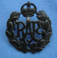A BRASS METAL MILITARY CAP BADGE PIN RAF ROYAL AIR FORCE