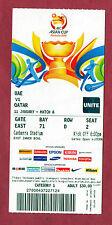 Orig.Ticket   Asienmeisterschaft AUSTRALIEN 2015  KATAR - V.ARABISCHE EMIRATE !!