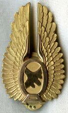 Circa 1950 Ozark Airlines Pilot Hat Badge 1st Issue by Balfour Gold-Filled