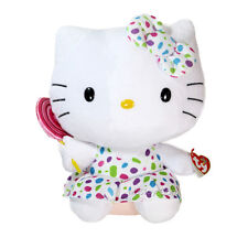 "NEW TY Sanrio Beanie Buddies Collection Hello Kitty With Lollipop 12"" Plush Doll"