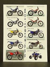 2003 Gas Gas Motorcycle Trials Dirt Bike Brochure TXT 50 70 280 Pro Pampera Quad