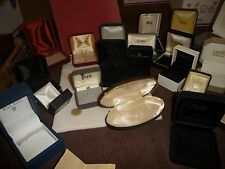 #1223 vtg EMPTY  jewelry boxes MIXED  LOT of 25 + PRE OWNED USED