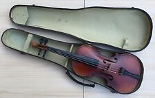 Antique Collectible Unbranded Acoustic Professional Violin With Hard Case