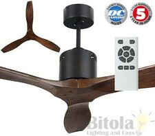 "BRILLIANT GALAXY-II 38w DC CEILING FAN W/ REMOTE 54"" BRONZE 3 BLADE 17997/14"