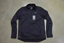 Nike Men's Large Black Dri-Fit Shield 2.0 Full Zip Running Jacket 683914-010 NWT