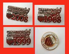 MANCHESTER UNITED FC PIN BADGES/SET OF 4