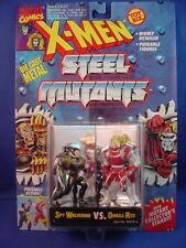 "MARVEL X-MEN STEEL MUTANTS DIE-CAST METAL 2.75"" SPY WOLVERINE VS. OMEGA RED!!"