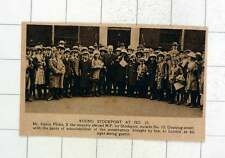 1920 Mr Harry Fildes Recently Elected Mp For Stockport With Schoolchildren