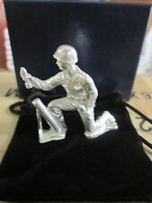 1.25 oz    .999 Fine Silver Army men  mortor / gunner  soldier