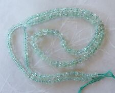 "18"" Strand Light Green Apatite Gemstone Faceted Graduated Rondelle Beads 2mm-5mm"