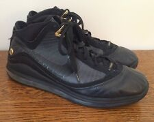 Nike Air Max Lebron James V11 7 Black Gold Basketball Shoes 375664-001 Size 12