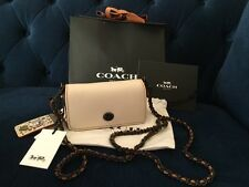 NWT COACH ELVIS CHARM Dinky 15 Leather LTD edition Crossbody bag Chalk SOLD OUT