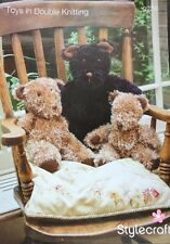 "Stylecraft Teddy Bear Knitting Pattern  12/20"" In Height"