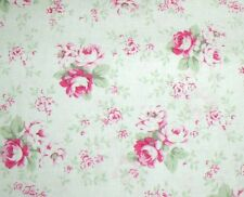 Cottage Shabby Chic Cotton Fabric Slipper Roses Washed Roses PWTW091-White BTY