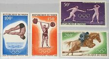NIGER 1968 189-92 C90-C93 Olympics Mexico Fencing Weight Lifting Swimming MNH