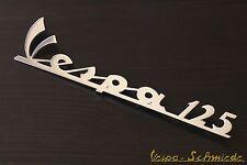 """VESPA Emblem Schriftzug Beinschild """"Vespa 125"""" - Chrom - GT GTR TS PV ET3 Antik"""