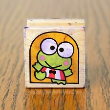 Vintage 1996 Sanrio Kero Keroppi Wooden Frog Rubber Stamp by All Night Media