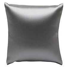 "GRAY LEATHERETTE BRACELET PILLOW DISPLAY SHOWCASE WATCH PILLOW DISPLAY 3""x3"""