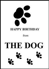 Novità HAPPY BIRTHDAY GREETING Card FROM THE DOG - 1-Design Proprio
