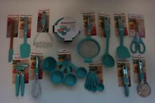 New Set of 28 Utensils KitchenAid Aqua Sky Shears Spatula (Color: HAQA)
