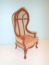 "1/6 th scale Victorian hooded chair 12"" to 14"" doll highend quality JBM"