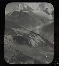 Glass Magic Lantern Slide MOUNTAINS NO1 C1890 POSSIBLY MONT BLANC AREA FRANCE