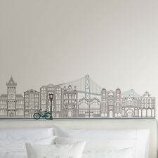 GLOBE TROTTER Wall Mural Decals PARIS LONDON NEW YORK Room Decor Stickers Scene