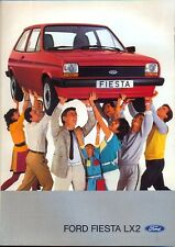 Ford Fiesta LX2 Mk 1 1983 Swedish market original sales brochure