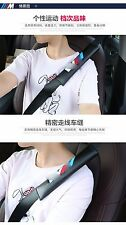 2x AUTO ACCESSORIES Universal Car Seat Belt Soft Shoulder Pad Decompress For BMW