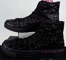 New Mens 10 CONVERSE CTAS HI Sir Tom Baker Black Animal Print Shoes 153037C
