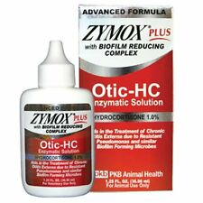 ZYMOX PLUS OTIC-HC 1.25 fl. oz Hydrocortisone 1.0 % Dog Cat Ear Otitis Treatment