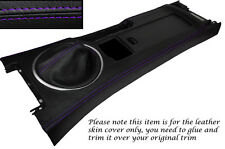 PURPLE STITCH CENTRE CONSOLE & GEAR GAITER SKIN COVERS FITS MAZDA MX5 MK3 05-13