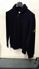 Stone Island Navy Wool Blend Cardigan In Navy AW16 RRP £305 BNWT