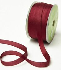 "May Arts 100% Pure Silk 7mm (1/4"") Ribbon - 31 Colours - Cut Length - 3 FOR 2"