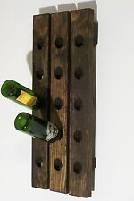 Wine Riddling Rack Distressed Wood Handcrafted Rustic Wall Mount