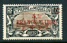 St Pierre & Miquelon Scott 221 Yvert 245 - 5F Overprint FNFL - NH **