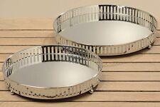 Deko Schalen Tablett Set Manta D26+30cm Aluminium Kerzenteller Kerzenhalter
